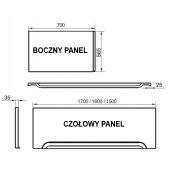 Ravak panel przedni A 150 U CZ001P0A00