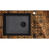Deante Capella zlewozmywak szklano-granitowy 86x50 cm grafitowy metalik/miedź ZSCGM2C