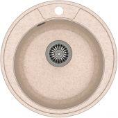 Quadron Danny 210 zlewozmywak 48,5 cm z GraniteQ wpuszczany beżowy metalik/stal szlachetna HB8301U3-BS