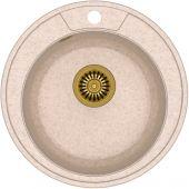 Quadron Danny 210 zlewozmywak 48,5 cm z GraniteQ wpuszczany beżowy metalik/złoty HB8301U3-G1
