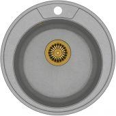 Quadron Danny 210 zlewozmywak 48,5 cm z GraniteQ wpuszczany szary metalik/złoty HB8301U5-G1