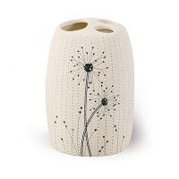 Awd Interior Vento kubek na szczoteczki stojący kremowy/czarny AWD02190920
