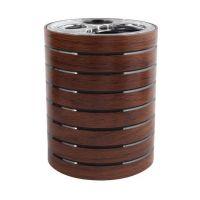 Awd Interior Madera kubek na szczoteczki stojący brązowy AWD02191003