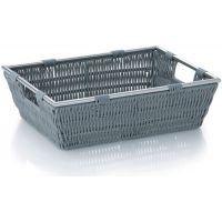 Kela Noblesse koszyk łazienkowy tworzywo jasnoszare KE-22601