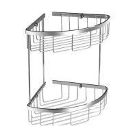 Omnires Uni koszyk prysznicowy podwójny chrom UN3509CR