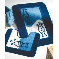 Sealskin Marina dywanik łazienkowy z wycięciem pod WC 55x45 cm niebieski 292295024