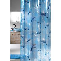 Sealskin Delfino zasłona prysznicowa PCV 180 cm blau 210691324