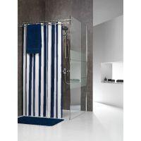 Sealskin Linje zasłona prysznicowa tekstylna 180 cm niebieska 233011324