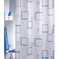 Sealskin Retro zasłona prysznicowa PCV 180 cm blau 211521324