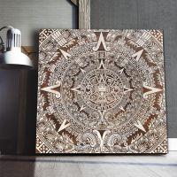 Smartwoods Aztec Calendar obraz 40x40 cm