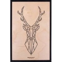 Smartwoods Deer obraz 30x20 cm rama czarna