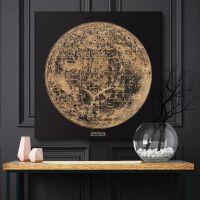 Smartwoods Lunar Map obraz 40x40 cm