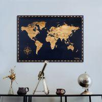 Smartwoods Mapa Świata obraz 60x40 cm