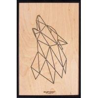 Smartwoods Wolf obraz 30x20 cm rama czarna