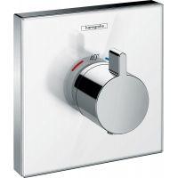 Hansgrohe ShowerSelect Glass bateria prysznicowa podtynkowa termostatyczna biały/chrom 15734400