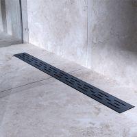 Bravat Black Matt Line Steel odpływ liniowy 70 cm czarny mat BLACKMATTLINESTEELDRAIN70