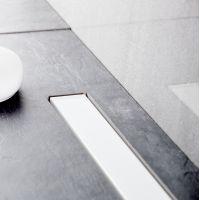 Bravat Seamless White Glass Steel odpływ liniowy 85 cm szkło białe polerowane SEAMLESSWHITEGLASSDRAIN85