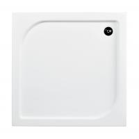 Besco Oskar brodzik kwadratowy 80 cm biały #BAO-80-PK