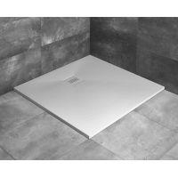 Radaway Kyntos C brodzik kwadratowy 90 cm konglomeratowy biały HKC9090-04