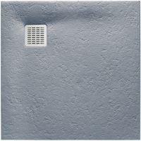 Roca Terran brodzik kwadratowy 90 cm kompozyt Stonex szary cement AP0338438401300