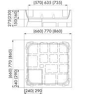 Schedpol Stabilsound nośnik styropianowy do brodzika 90 cm 2.004/BRK