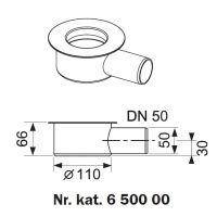 Tece Drainline kolano odpływowe z syfonem 95 mm 650000