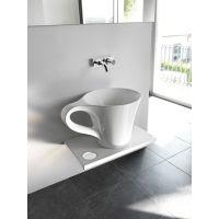 Art Ceram One Shot Cup umywalka 69x50 cm nablatowa biała OSL00501;00
