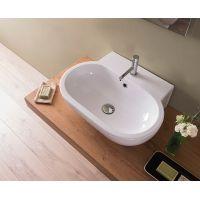 Globo Bowl+ umywalka 60x46 cm nablatowa biała SC061BI