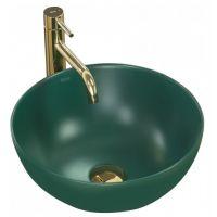 Rea Stella umywalka 36 cm nablatowa okrągła zielony mat REA-U1893