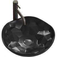 Rea Paris umywalka 41 cm nablatowa okrągła czarny mat REA-U8501