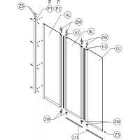 Koło Split profil przyścienny do parawanów nawannowych GP0011XX