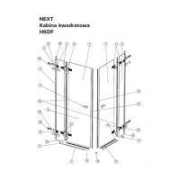Koło Next uszczelka do drzwi 90 cm dolna prawa A170085