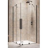 Radaway Furo Black KDD kabina prysznicowa 80 cm część lewa czarny/szkło przezroczyste 10105080-54-01L