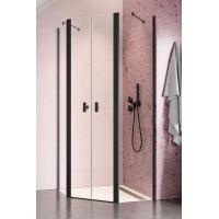 Radaway Nes Black PTD kabina prysznicowa 90x90 cm pięciokątna szkło przezroczyste 10051000-54-01/10051600-54-01