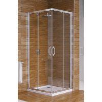 Hüppe Ena 2.0 4-kąt kabina prysznicowa 90 cm kwadratowa srebrny połysk/szkło przezroczyste Anti-Plaque 140103.069.322