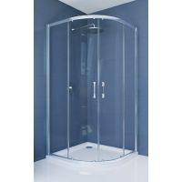 Hüppe Ena 2.0 1/4 koła kabina prysznicowa 80x80 cm półokrągła srebrny połysk/szkło przezroczyste Anti-Plaque 140601.069.322