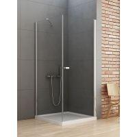 New Trendy New Soleo kabina prysznicowa 100x90 cm prostokątna  chrom/szkło przezroczyste D-0142A/D-0088B