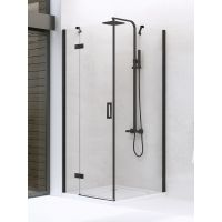 New Trendy New Renoma Black kabina prysznicowa 90 cm lewa szkło przezroczyste D-0203A/D-0111B