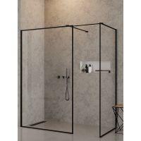 New Trendy New Modus Black kabina prysznicowa Walk-In 150x100 cm szkło przezroczyste EXK-0123