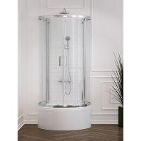 New Trendy New Rondo kabina prysznicowa 100x85 cm przyścienna K-0274