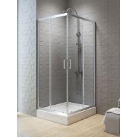 New Trendy New Varia kabina prysznicowa 90 cm kwadratowa chrom/szkło przezroczyste K-0473