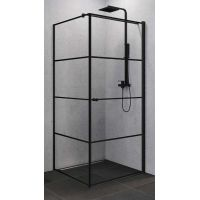 New Trendy Superia Black kabina prysznicowa 90x90 cm prawa czarny/szkło przezroczyste K-0604