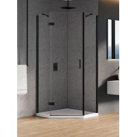 New Trendy New Azura Black kabina prysznicowa 90x90 cm pięciokątna czarny/szkło przezroczyste K-0667
