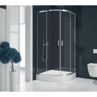 New Trendy Suvia kabina prysznicowa 90x90 cm półokrągła z brodzikiem szkło przezroczyste ZS-0002
