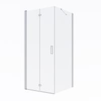 Oltens Trana kabina prysznicowa 90x90 cm kwadratowa drzwi ze ścianką 20004100