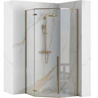 Rea Diamond Gold kabina prysznicowa 90x90 cm pięciokątna szkło przezroczyste REA-K4904