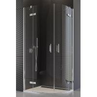 SanSwiss Pur kabina prysznicowa 80 cm półokrągła chrom/szkło przezroczyste PU4P550801007