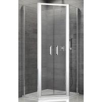 SanSwiss TOP-Line kabina prysznicowa 80 cm pięciokątna chrom/szkło przezroczyste TOP5260805007