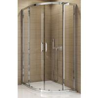SanSwiss TOP-Line kabina prysznicowa 90 cm półokrągła srebrny połysk/szkło durlux TOPR550905022