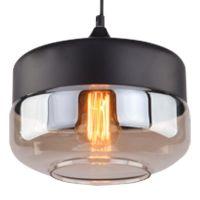 Altavola Design Manhattan Chic lampa wisząca 1x60W czarny matowy/bursztynowy/perłowy LA053/P